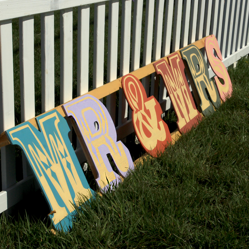 MR & MRS Giant Fairground Sign 2